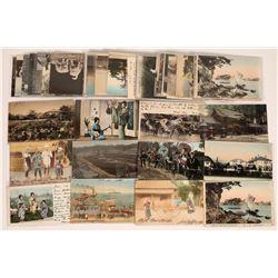 Japan Postcards, Old-Style Chromolith Postcards ~ 58  (126884)
