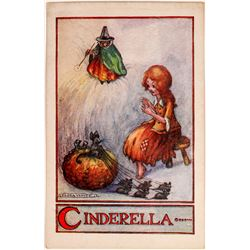 Cinderella Art Card by Illustrator Flora White  (118672)