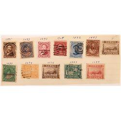 Hawaiian Postage Stamps Group  (125467)