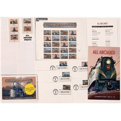 First Day Issue All Aboard Train Stamps  (125586)