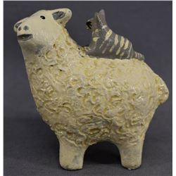 NAVAJO INDIAN POTTERY SHEEP (ELIZABETH MANYGOATS)
