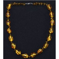 SINGLE STRAND AMBER BEAD NECKLACE