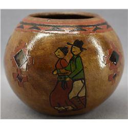 NAVAJO INDIAN POTTERY JAR (LORAINE WILLIAMS)