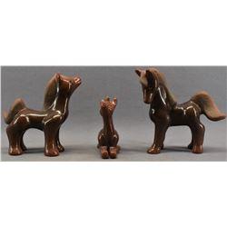 SANTA CLARA INDIAN POTTERY HORSES (JANE BACA & STARR TAFOYA)