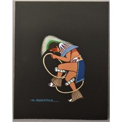 CHEYENNE INDIAN PAINTING (ARCHIE BLACKOWL)