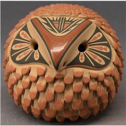JEMEZ INDIAN POTTERY OWL (LAURA GACHUPIN)