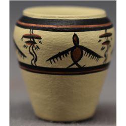 CHEMEHUEV INDIAN POTTERY JAR (THERESA WILDFLOWER)