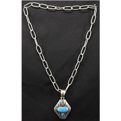 NAVAJO INDIAN NECKLACE AND PENDENT