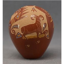 SANTA CLARA INDIAN POTTERY SEED JAR (RAY TAFOYA)
