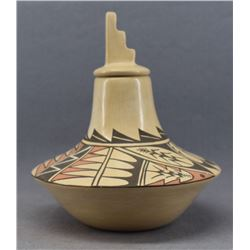 JEMEZ INDIAN POTTERY JAR ( JUANITA FRAQUA)