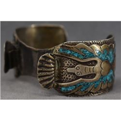 NAVAJO INDIAN WATCH BRACELET (WILLIAM SINGER)