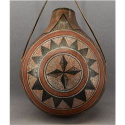 SOUTHWEST STYLE PAINTED GOURD (ROBERT RIVERA)