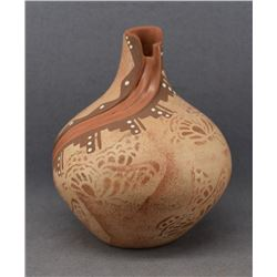 JEMEZ INDIAN POTTERY VASE (FELICITA FRAQUA)