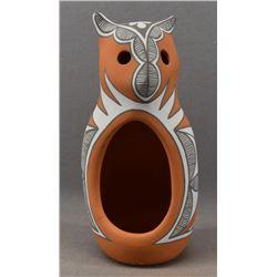 JEMEZ INDIAN POTTERY OWL (MARY SMALL)