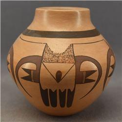 HOPI INDIAN POTTERY JAR (DOLLY JOE NAVASIE)