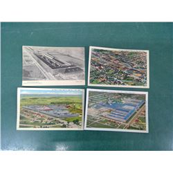 Ford and Chev Plants Postcards