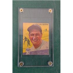Old Lou Gehrig card