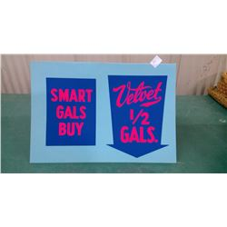 Velvet Paint Sign - New Old Stock