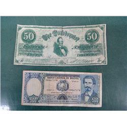 Bolivia and Confederate Money