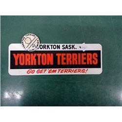Yorkton Terriers Plate Topper