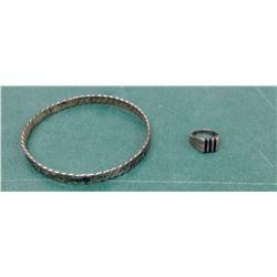 Sterling Ring and Bracelet