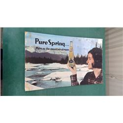 Pure Spring Soda Sign