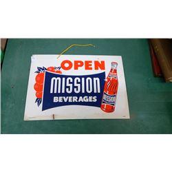 Mission Orange Drink Sign