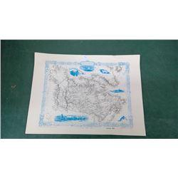 Canada 1855 Map - Vintage Reprint