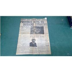 Copy of 1935 Leader Post - Cop Killed