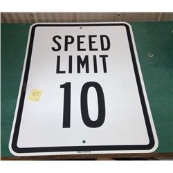 10 MPH Sign - New Old Stock