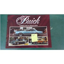 1978 Buick Catalogue