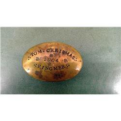1904 Christmas Box - Hinge Damaged