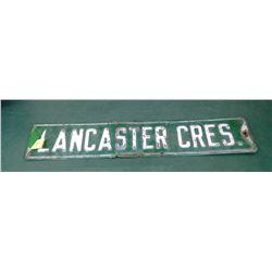 Lancaster Sign