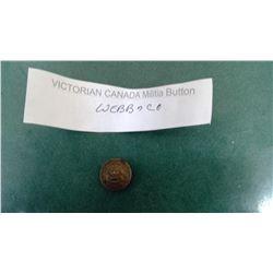 Victorian Canada Webb Co. Militia Button