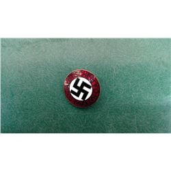 Nazi Pin - Back Signed