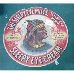 Sleepy Mills Flour Barrel Advertising