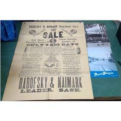 Leader Sask Store Poster Etc.