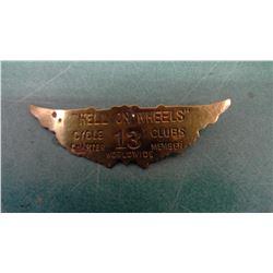 Hell On Wheels Motorcycle Club Badge