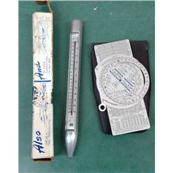 Jeppeson Aviators Compass & Thermometer