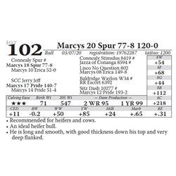 Marcys 20 Spur 77-8 120-0
