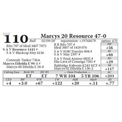 Marcys 20 Resource 47-0