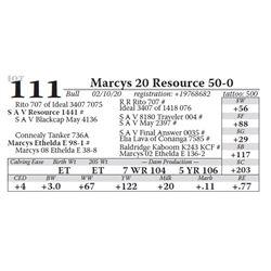Marcys 20 Resource 50-0