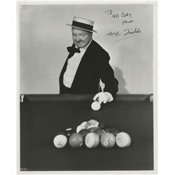 W. C. Fields signed billiards photograph from Follow the Boys.
