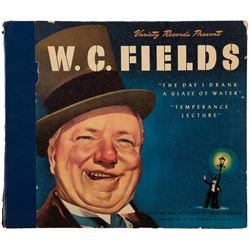 W. C. Fields collection of vinyl comedy records.