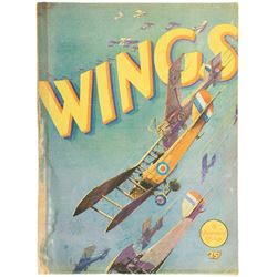 Wings original 1927 Howard Hughes film program.
