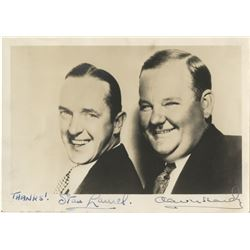 Laurel & Hardy signed photograph.