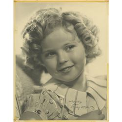 Shirley Temple oversize signed photo.