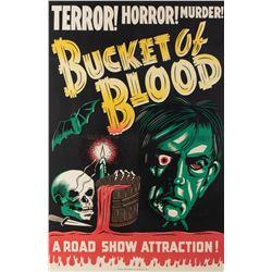 Bucket of Blood 1-sheet linen backed poster.
