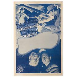 Sherlock Holmes stock 1-sheet linen backed poster.