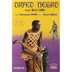Black Orpheus 1-sheet Argentinian linen backed poster.
